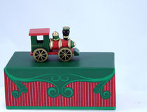 Colorful toy train ornament Royalty Free Stock Photo