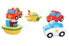 colorful toy transportation 免版税库存图片