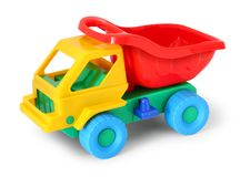 Colorful toy truck Royalty Free Stock Images