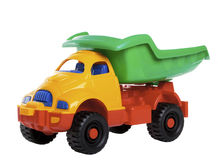 Colorful toy truck Royalty Free Stock Photo