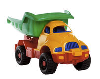 Colorful toy truck Stock Photos