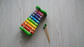 Colorful toy vibraphone Royalty Free Stock Photography