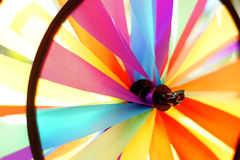 Colorful toy windmill Stock Photo