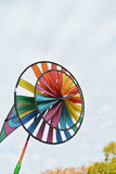 Colorful toy windmill Royalty Free Stock Photography