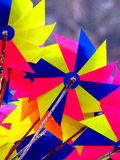 Colorful toy windmill Stock Photos