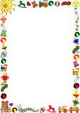 Colorful Toys border Stock Image