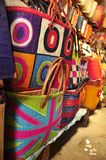 Colorful traditional bags of madagascar Stock Image