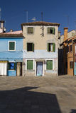 Colorful Traditional Buildings in Burano, Venice stock photos