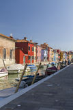 Colorful Traditional Buildings in Burano, Venice Royalty Free Stock Photo