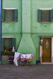 Colorful Traditional Buildings in Burano, Venice Stock Photography