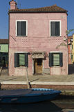 Colorful Traditional Buildings in Burano, Venice Royalty Free Stock Images