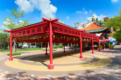 Colorful of Traditional Chinese style temple with god statue Royalty Free Stock Photography