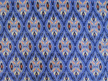 Colorful Traditional Design Thai Fabric Pattern Background, Closeup Top View Royalty Free Stock Images