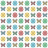 Colorful traditional embroidery with butterflies and flowers. On white background Stock Images