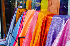 Colorful traditional embroidery fabric Royalty Free Stock Photo