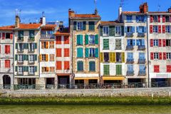 Free Colorful Traditional Facades In Bayonne, France Stock Photo - 108844620