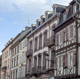 Colorful traditional french houses  in Petite Venise, Colmar, France Stock Photos