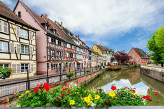 Colorful traditional french houses in Petite Venise, Colmar, France Royalty Free Stock Image
