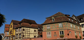 Colorful traditional french houses in Petite Venise, Colmar Royalty Free Stock Photography