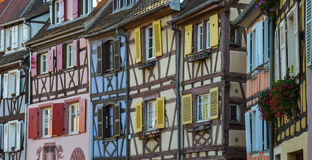 Colorful traditional french houses in Petite Venise, Colmar Stock Photo