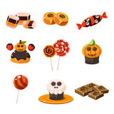 Colorful Traditional Halloween Sweets Vector Royalty Free Stock Image