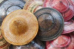 Colorful Traditional Hats of Thailand. On Sale Stock Image