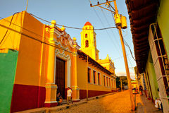 Colorful traditional houses in the colonial town of Trinidad, Cuba Stock Photo