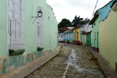 Colorful traditional houses in the colonial town of Trinidad Royalty Free Stock Image