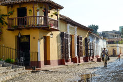 Colorful traditional houses in the colonial town of Trinidad Stock Photography