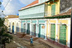 Colorful traditional houses in the colonial town of Trinidad Royalty Free Stock Photography