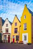 Colorful traditional houses in the Dutch town Deventer. Row of colorful traditional houses in the Dutch town Deventer Stock Photography