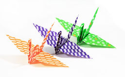 Colorful traditional Japanese origami bird isolate Royalty Free Stock Photography