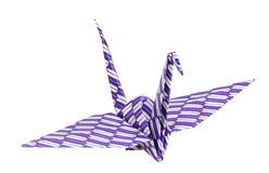 Colorful traditional Japanese origami bird isolate Royalty Free Stock Photo