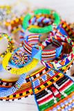 Masai traditional jewelry. Colorful traditional jewelry of Masai tribe stock photography