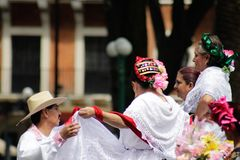 Traditional mexican dance colorful royalty free stock images