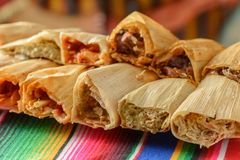 Colorful Traditional Mexican food dishes stock photography
