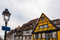 Colorful traditional old french houses in Petite Venise, Colmar, ribeauville, France. Colorful traditional old french houses in Petite Venise, Colmar stock image