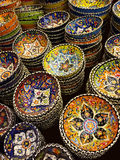 Colorful Traditional Oriental Style Decorated Ornamental Ceramic Stock Photography
