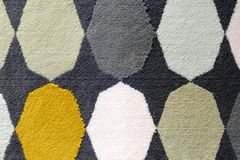 Colorful traditional Peruvian style, close-up rug surface. stock images