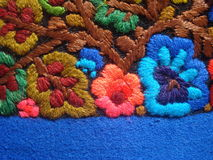 Colorful traditional romanian embroidery Royalty Free Stock Photos