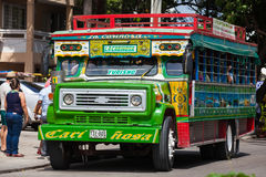 Colorful traditional rural bus from Colombia Royalty Free Stock Images