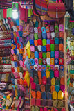The colorful traditional shoes of Morocco made from leather Stock Photography