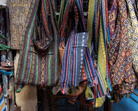 Colorful traditional textile bag Stock Photos