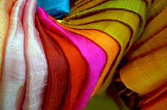 Colorful Traditional textile Stock Photos
