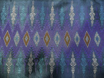 Colorful Traditional Thai Blue Silk Textile Pattern Handcraft Texture Vintage Style Stock Images