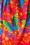 Colorful traditional Thai fabric Stock Photos