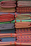 Colorful of traditional Thai mat Stock Images