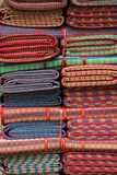 Colorful of traditional Thai mat Royalty Free Stock Photos