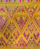 Colorful Traditional Thai Silk Textile Handcraft Texture Royalty Free Stock Photos