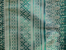 Colorful Traditional Thai Silk Textile Pattern Handcraft Texture Vintage Style used as Background Royalty Free Stock Image